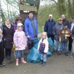 Teilnehmer des Heimatverein Voerde beim Ennepetaler Frühjahrsputz 2012